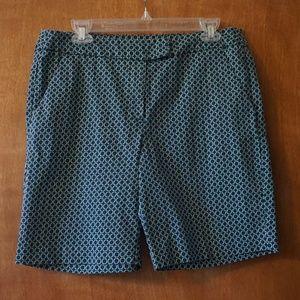 Kenar Women's Navy Bermuda Shorts (Size: 10)